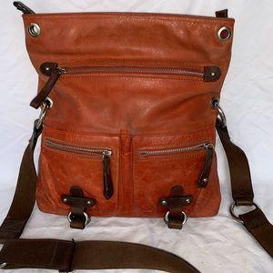 5cb82e679e3d Tano orange leather crossbody
